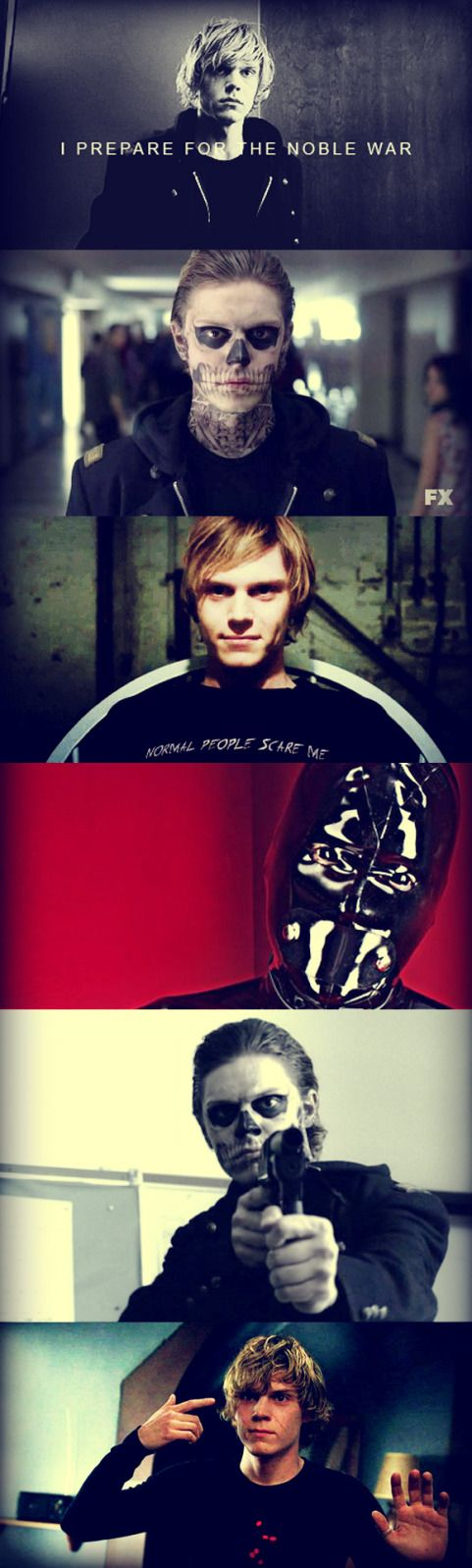 I'm a little obsessed with Tate Langdon. I love a good psychopath. He can murder me all day.