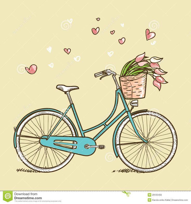 Bicicleta Do Vintage Com Flores Imagem de Stock Royalty Free ...