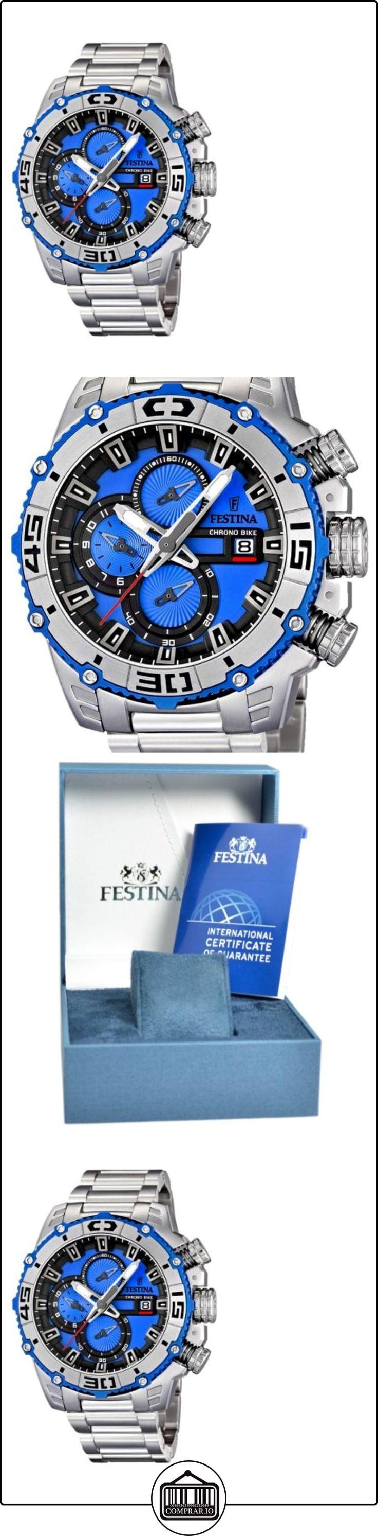 Festina 16599/4 - Reloj cronógrafo de cuarzo para hombre con correa de acero inoxidable, color plateado  ✿ Relojes para hombre - (Gama media/alta) ✿ ▬► Ver oferta: http://comprar.io/goto/B007Z01QEW