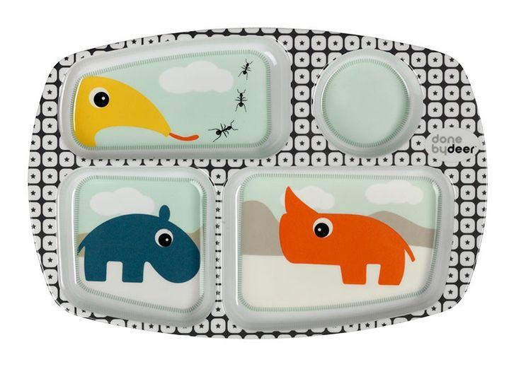 Done by Deer | Bord met vakjes Zoopreme - Blauw | www.lovelylittleone.com