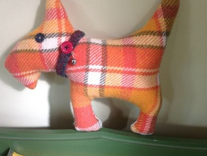 Scottie+Dog+Blanket+toy+wool+upcycled+blanket