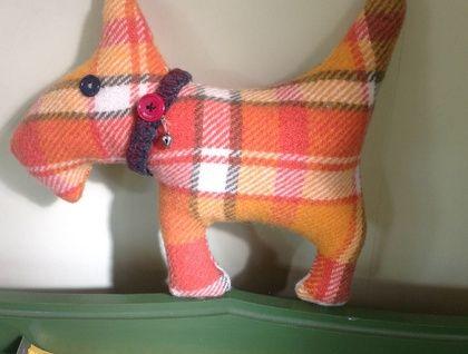 Scottie+Dog+Blanket+toy+wool+upcycled+blanket