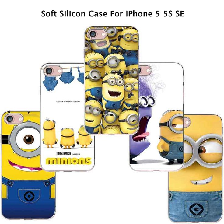 5/5 s se 4 'hot soldのfuny漫画カバー怪盗グルーの月泥棒黄色ミニオンcase用apple iphone 5 s iphone se iphone5の電話ケースシェル
