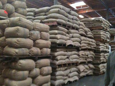 green coffee bean storage bags