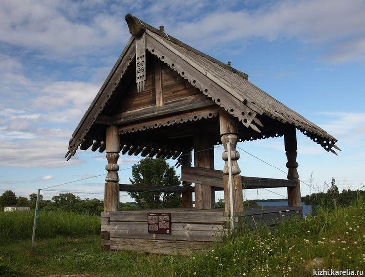 Поклонный крест из д. Чуйнаволок — Пряжинские карелы |     Памятники деревянного зодчества |     Музей-заповедник «Кижи»