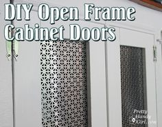 Okay, not sure of my ability to make the cabinet door but... I love the radiator screen insert.  In case I get brave there's a tutorial for the cabinet doors also.