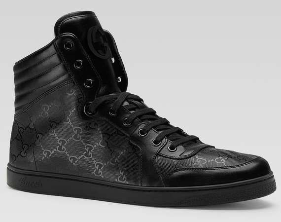 The Gucci Hi Top Lace Up Sneaker for Men Exudes Style & Luxury #Shoes #Footwear trendhunter.com