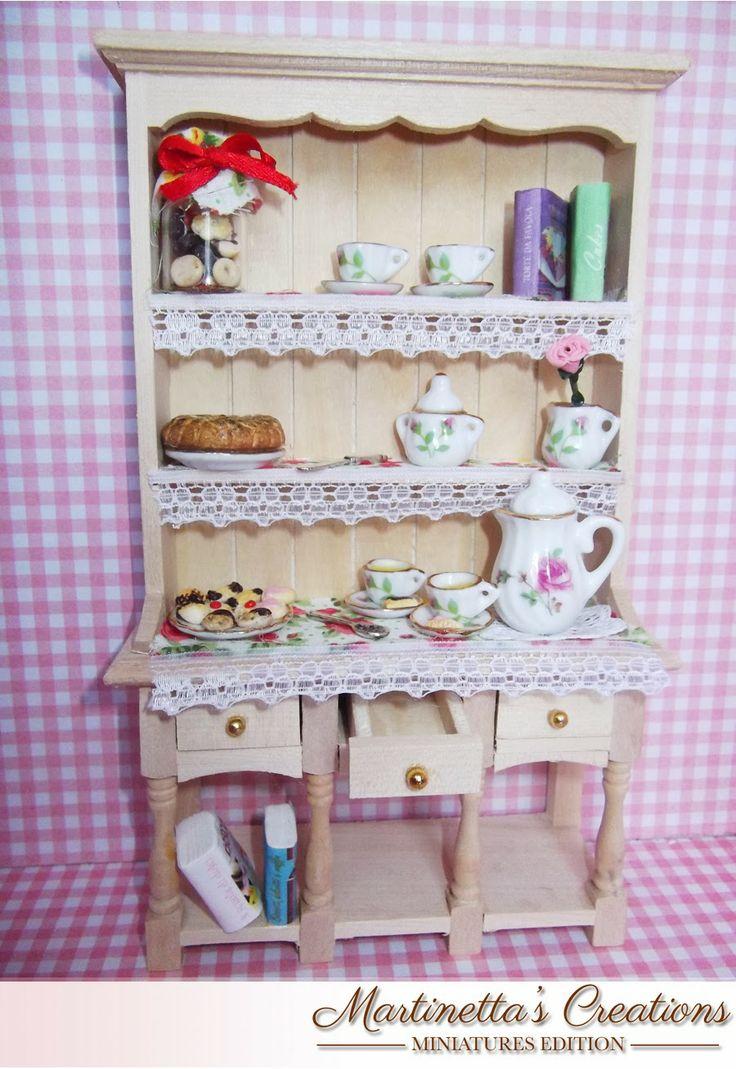 Martinetta's Creations: Credenza Sweet tea scala 1:12 in miniatura