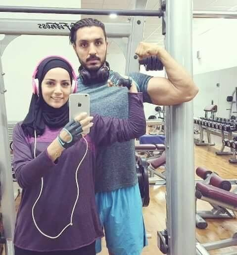 #muslim #couple  Train together, stay together.