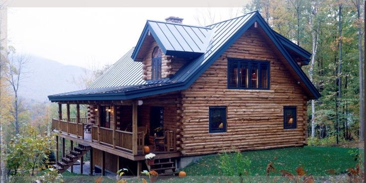 Metal Roof Log Cabin Home Maintenance Home Plans