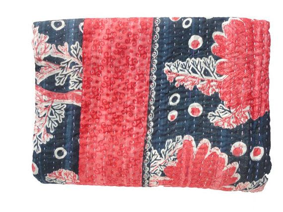 Hey, I found this really awesome Etsy listing at https://www.etsy.com/listing/194607322/vintage-throw-kantha-quilt-alias-ralli