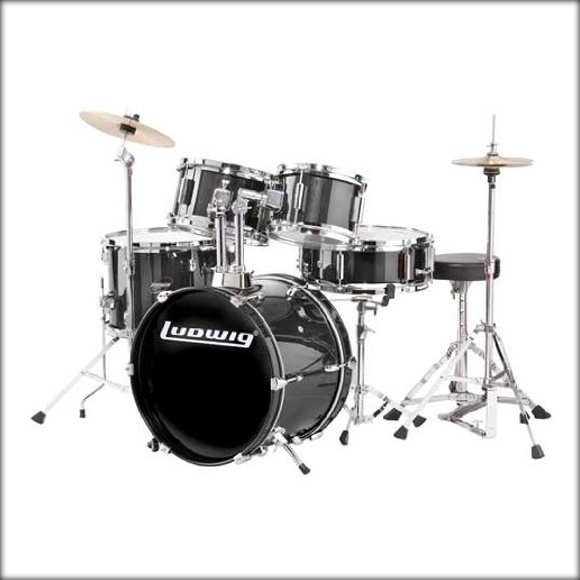Ludwig Junior Drum Kit - Black for Olivia
