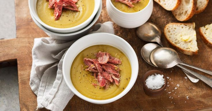 This is traditional pea and ham soup at its best.