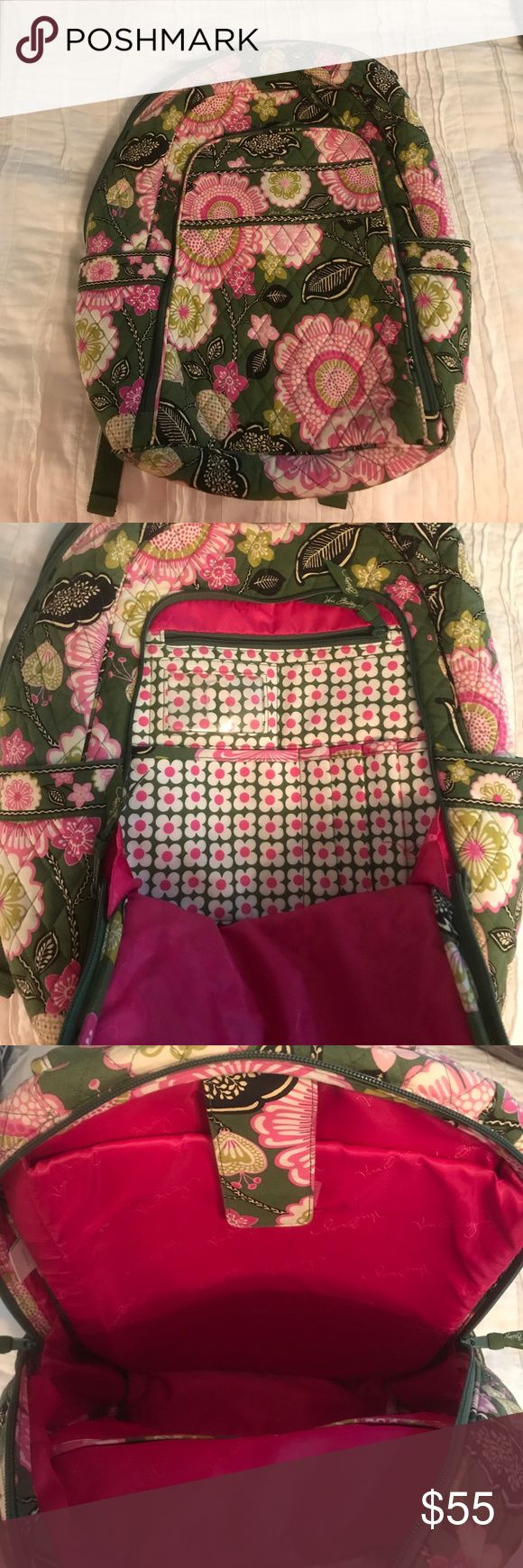 Vera Bradley Campus Backpack - Olivia Pink Great backpack for school!! And in great condition! Only a couple signs of wear from sitting on floor. Vera Bradley Bags Backpacks
