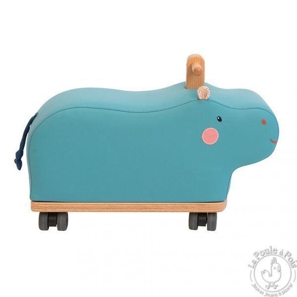 porteur hippopotame bleu les papoum moulin roty hroch. Black Bedroom Furniture Sets. Home Design Ideas