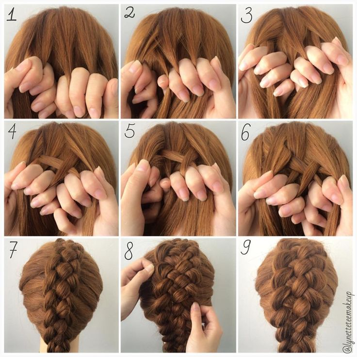 """""""5 Strand Dutch Pancake Braids❤️ Check out the steps below :- 1.Divide into 5 equal section 2.Take the left most section under the second one 3.Take the…"""""""