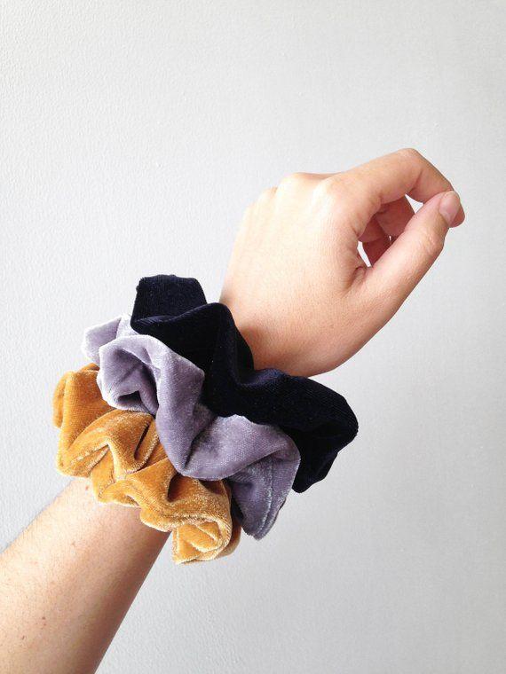8549a10e26e Hair ties bulk velvet scrunchie pack scrunchies set black