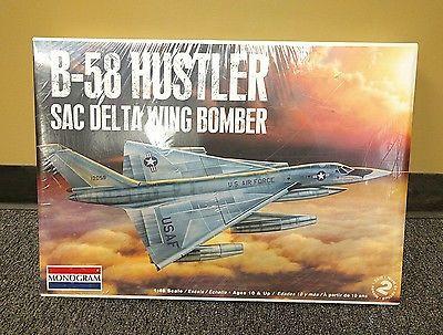 Monogram 1/48 Convair B-58 Hustler SAC DELTA WING BOMBER NEW SEALED Kit 85-5713