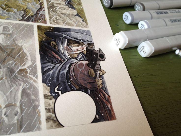 """La situation devient grave"" Travail en cours "". Technique: Copic markers + crayons de couleur. ""Work in progres"". Technique: Copic markers + colour pencils. ""Lavori in corso"". Tecnica: Copic e matite colorate.   #stefanotamiazzo #tamiazzo #copic #sketchcopic #bd #bandedessinee #comicart #fumetto #copicfrance #copicitalia"