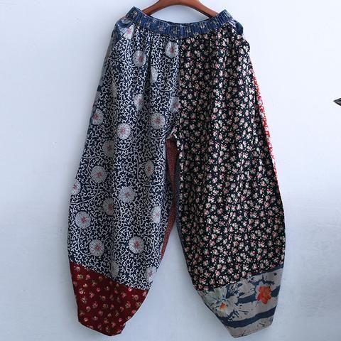 Avec des foulards, pour enfant..Multi Print Elastic Waist Baggy Pants