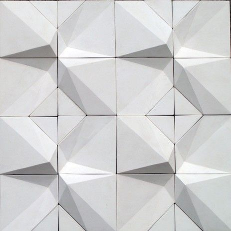 Eliza Mikus Handmade tiles can be colour coordianated and customized re. shape, texture, pattern, etc. by ceramic design studios