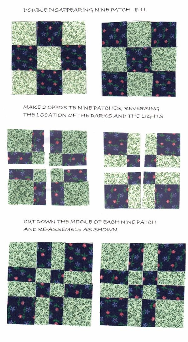 Disappearing 9 Patch Quilt Block by adrian