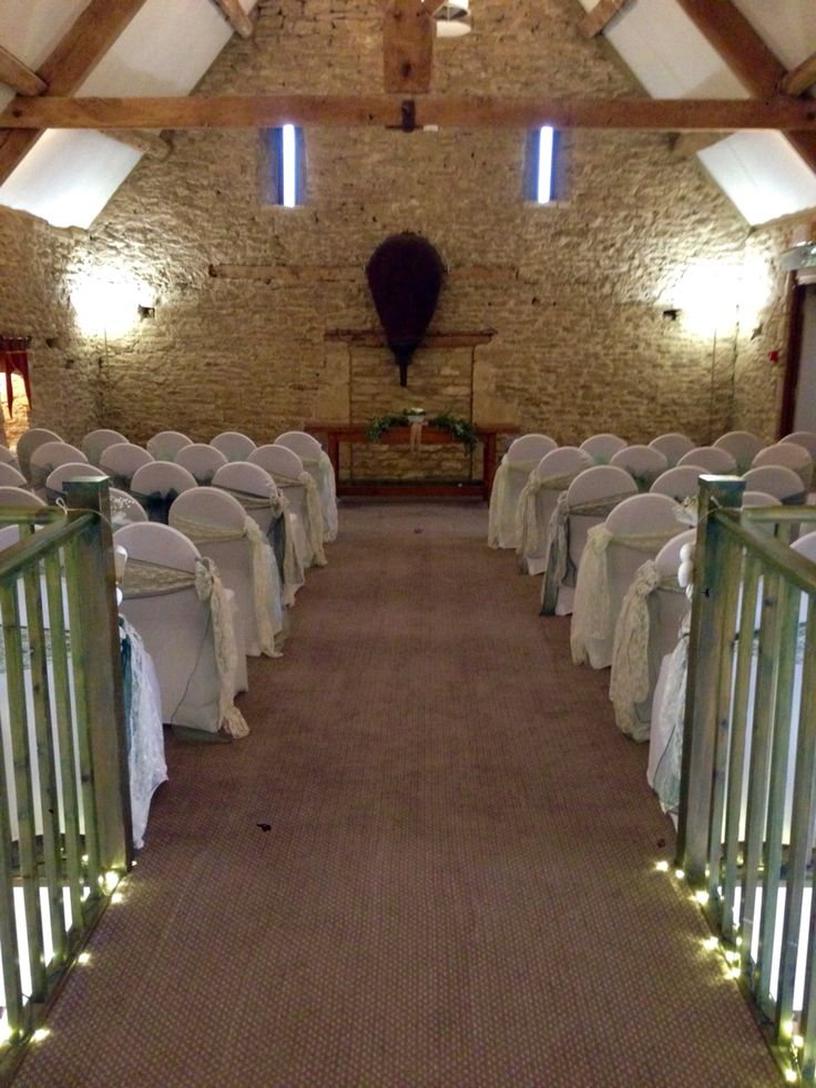 civil ceremony upstairs at the great tythe barn tetbury