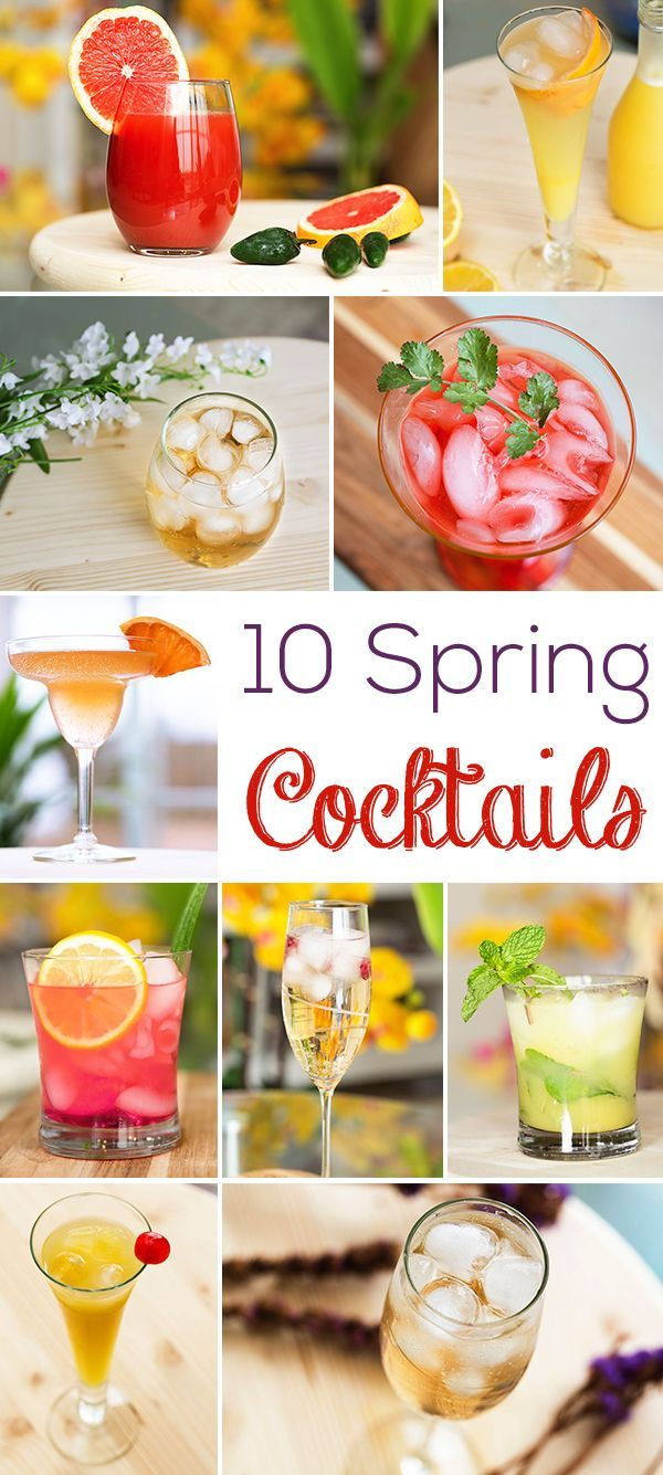 10 spring cocktails you need to try! Get all the recipes here: http://www.ehow.com/slideshow_12335348_refreshing-spring-cocktails.html