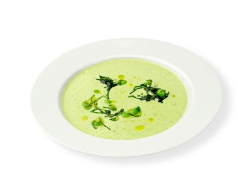 Rezept für kalte Erbsen-Suppe