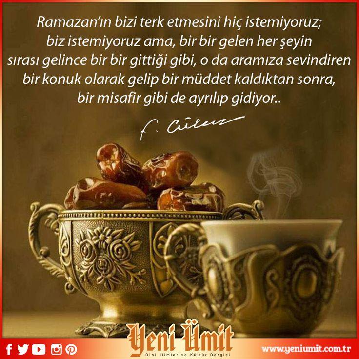 """""""Muhterem Fethullah Gülen Hocaefendi'nin yeni sayıdaki baş yazısı 'Her şeye rağmen bizdeki ramazanlar' : http://www.yeniumit.com.tr/konular/detay/basyazi-109 #yeniümitdergi #yeniümit #dergi #fethullahgülenhocaefendi #hocaefendi #ramazan #ranadan #dua #başyazı #yazı #yenisayı"""
