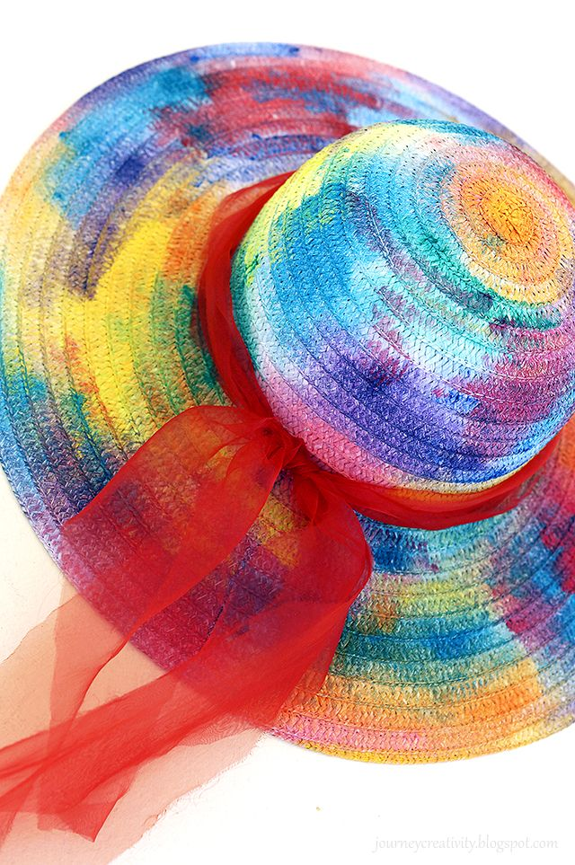 Journey into Creativity: Colorful summer hat