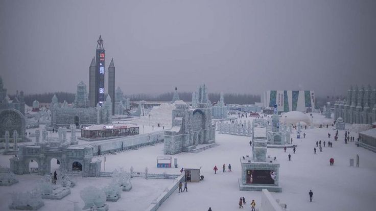 El Festival de Esculturas de Nieve y Hielo de Harbin es uno de los cuatro más importantes y grandes del mundo