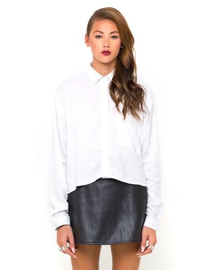 Motel Leela Oversized Batwing Shirt in White - Get 20% off MotelRocks.com using discount code 'floraldanielle' :)