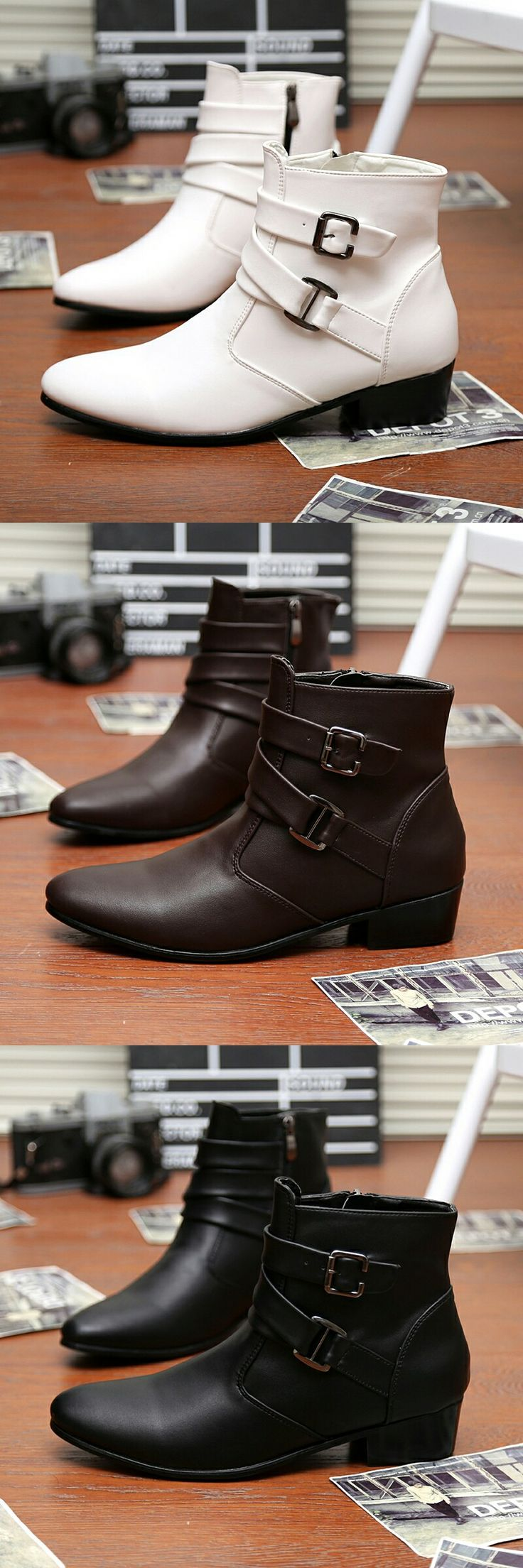 $26.98 <Click to buy> Plus Size Elegant Mens Ankle Boots