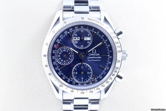 Omega Speedmaster Day Date ad: S$2,868 Omega Speedmaster Automatic Chronograph Triple Date Saphirglas Ref. No. 35205000; Steel; Automatic; Condition 1 (mint); Year 1997; Location: Germany, München