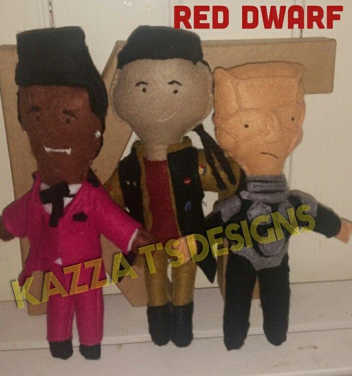 red dwarf characters handmade felt plush dolls  #kazzatsdesigns #feltplushdolls #beingcreative #favecharacters #reddwarf