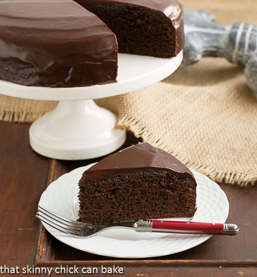 One Layer Fudge Cake | Perfect for your Valentine or any celebration | That Skinny Chick Can Bake