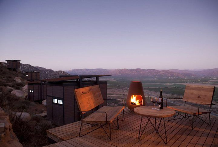 The Endémico Resguardo Silvestre hotel complex comes from the works of the Gracia Studio atelier. It is composed by an aggregation of twenty individual rooms scattered along the slopes of Valle de Guadalupe in Mexico. Guests can enjoy panoramatic views of picturesque Mexican wineyards and the beautiful landscape around from each of the ecolofts. These 20 m2 sized units float above the rocky ground atop steel stilts, minimizing the hampering impact on the natural environment.