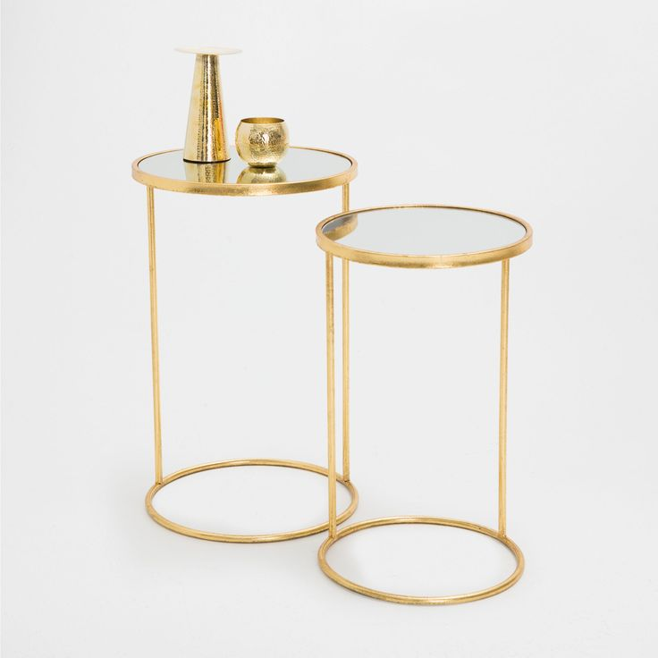 GOLDEN TALL LITTLE TABLES (SET OF 2) - Occasional Furniture - Decoration | Zara Home Spain