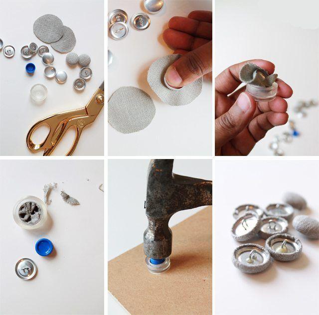 como hacer cabeceros de cama forrar botones