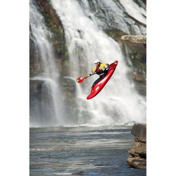 Here Eric Jackson kayaks at his home play spot on the Caney Fork #River in Rock Island State Park, #Tennessee.