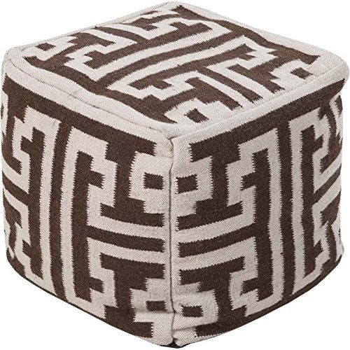 Smithsonian By Surya POUF 31 Hand Made 80% Wool / 20% Cotton Tan
