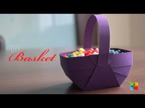 DIY : How to make Basket out of craft paper - YouTube