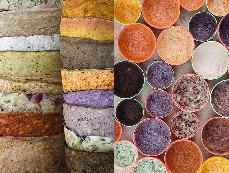 Studio Gutedort - handmade paper cast bowls with spices and herbs