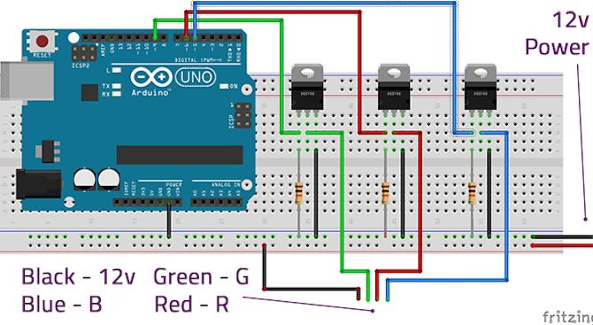 Ultimate Guide To Connecting Led Light Strips To Arduino Arduino Led Arduino Led Projects
