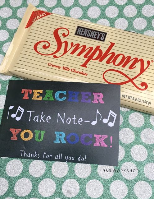 Teacher Take Note- You Rock Printable Tag and Gift Ideas