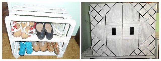 DIY - Zrób to sam, Handmade, Upcykling, Moda, Dekoracje, Inspiracje: Szafka na buty ze skrzynki i starej rolety DIY // ...