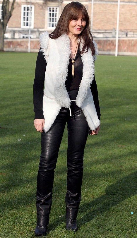 50 year old carol vorderman in leather trousers i want to age this