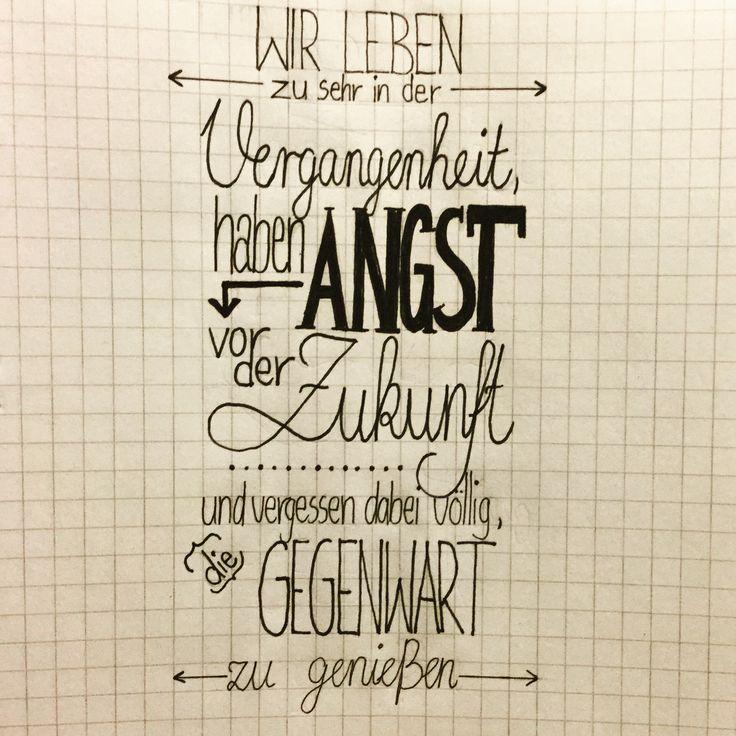 Handlettering deutsch Sprüche drawing Zukunft