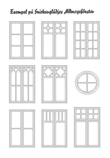 Allmogedörrar & Fönster sekelskifte | Snickarglädje